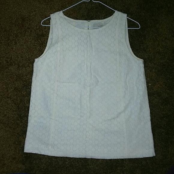 LOFT Tops - LOFT Size Small White Blouse